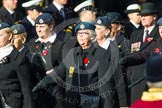 Remembrance Sunday at the Cenotaph in London 2014: Group C2 - Royal Air Force Regiment Association. Press stand opposite the Foreign Office building, Whitehall, London SW1, London, Greater London, United Kingdom, on 09 November 2014 at 11:38, image #53