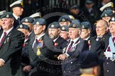 Remembrance Sunday at the Cenotaph in London 2014: Group C2 - Royal Air Force Regiment Association. Press stand opposite the Foreign Office building, Whitehall, London SW1, London, Greater London, United Kingdom, on 09 November 2014 at 11:38, image #60