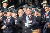 Remembrance Sunday at the Cenotaph in London 2014: Group C2 - Royal Air Force Regiment Association. Press stand opposite the Foreign Office building, Whitehall, London SW1, London, Greater London, United Kingdom, on 09 November 2014 at 11:38, image #61