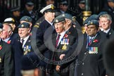 Remembrance Sunday at the Cenotaph in London 2014: Group C2 - Royal Air Force Regiment Association. Press stand opposite the Foreign Office building, Whitehall, London SW1, London, Greater London, United Kingdom, on 09 November 2014 at 11:38, image #68