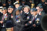 Remembrance Sunday at the Cenotaph in London 2014: Group C2 - Royal Air Force Regiment Association. Press stand opposite the Foreign Office building, Whitehall, London SW1, London, Greater London, United Kingdom, on 09 November 2014 at 11:38, image #69
