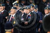 Remembrance Sunday at the Cenotaph in London 2014: Group C2 - Royal Air Force Regiment Association. Press stand opposite the Foreign Office building, Whitehall, London SW1, London, Greater London, United Kingdom, on 09 November 2014 at 11:38, image #72