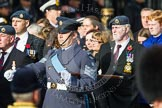 Remembrance Sunday at the Cenotaph in London 2014: Group C2 - Royal Air Force Regiment Association. Press stand opposite the Foreign Office building, Whitehall, London SW1, London, Greater London, United Kingdom, on 09 November 2014 at 11:38, image #77