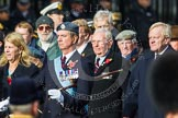 Remembrance Sunday at the Cenotaph in London 2014: Group C2 - Royal Air Force Regiment Association. Press stand opposite the Foreign Office building, Whitehall, London SW1, London, Greater London, United Kingdom, on 09 November 2014 at 11:38, image #81