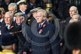 Remembrance Sunday at the Cenotaph in London 2014: Group C3 - Bomber Command Association. Press stand opposite the Foreign Office building, Whitehall, London SW1, London, Greater London, United Kingdom, on 09 November 2014 at 11:38, image #82