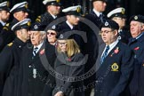 Remembrance Sunday at the Cenotaph in London 2014: Group C4 - Royal Observer Corps Association. Press stand opposite the Foreign Office building, Whitehall, London SW1, London, Greater London, United Kingdom, on 09 November 2014 at 11:38, image #88