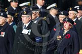 Remembrance Sunday at the Cenotaph in London 2014: Group C4 - Royal Observer Corps Association. Press stand opposite the Foreign Office building, Whitehall, London SW1, London, Greater London, United Kingdom, on 09 November 2014 at 11:38, image #90