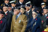 Remembrance Sunday at the Cenotaph in London 2014: Group C4 - Royal Observer Corps Association. Press stand opposite the Foreign Office building, Whitehall, London SW1, London, Greater London, United Kingdom, on 09 November 2014 at 11:38, image #92