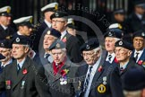 Remembrance Sunday at the Cenotaph in London 2014: Group C4 - Royal Observer Corps Association. Press stand opposite the Foreign Office building, Whitehall, London SW1, London, Greater London, United Kingdom, on 09 November 2014 at 11:38, image #94