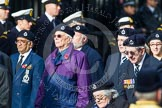 Remembrance Sunday at the Cenotaph in London 2014: Group C4 - Royal Observer Corps Association. Press stand opposite the Foreign Office building, Whitehall, London SW1, London, Greater London, United Kingdom, on 09 November 2014 at 11:38, image #96