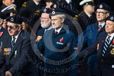 Remembrance Sunday at the Cenotaph in London 2014: Group C4 - Royal Observer Corps Association. Press stand opposite the Foreign Office building, Whitehall, London SW1, London, Greater London, United Kingdom, on 09 November 2014 at 11:38, image #97