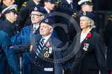 Remembrance Sunday at the Cenotaph in London 2014: Group C4 - Royal Observer Corps Association. Press stand opposite the Foreign Office building, Whitehall, London SW1, London, Greater London, United Kingdom, on 09 November 2014 at 11:38, image #98