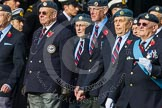 Remembrance Sunday at the Cenotaph in London 2014: Group C5 - National Service (Royal Air Force) Association. Press stand opposite the Foreign Office building, Whitehall, London SW1, London, Greater London, United Kingdom, on 09 November 2014 at 11:39, image #100