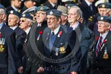 Remembrance Sunday at the Cenotaph in London 2014: Group C5 - National Service (Royal Air Force) Association. Press stand opposite the Foreign Office building, Whitehall, London SW1, London, Greater London, United Kingdom, on 09 November 2014 at 11:39, image #104