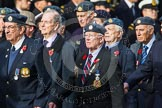 Remembrance Sunday at the Cenotaph in London 2014: Group C5 - National Service (Royal Air Force) Association. Press stand opposite the Foreign Office building, Whitehall, London SW1, London, Greater London, United Kingdom, on 09 November 2014 at 11:39, image #105