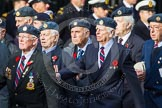 Remembrance Sunday at the Cenotaph in London 2014: Group C5 - National Service (Royal Air Force) Association. Press stand opposite the Foreign Office building, Whitehall, London SW1, London, Greater London, United Kingdom, on 09 November 2014 at 11:39, image #106