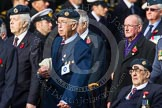 Remembrance Sunday at the Cenotaph in London 2014: Group C5 - National Service (Royal Air Force) Association. Press stand opposite the Foreign Office building, Whitehall, London SW1, London, Greater London, United Kingdom, on 09 November 2014 at 11:39, image #107