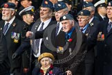 Remembrance Sunday at the Cenotaph in London 2014: Group C9 - RAF Habbaniya Association. Press stand opposite the Foreign Office building, Whitehall, London SW1, London, Greater London, United Kingdom, on 09 November 2014 at 11:39, image #125