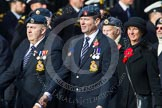 Remembrance Sunday at the Cenotaph in London 2014: Group C10 - Royal Air Force & Defence Fire Services Association. Press stand opposite the Foreign Office building, Whitehall, London SW1, London, Greater London, United Kingdom, on 09 November 2014 at 11:39, image #131