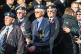 Remembrance Sunday at the Cenotaph in London 2014: Group C14 - Royal Air Force Yatesbury Association. Press stand opposite the Foreign Office building, Whitehall, London SW1, London, Greater London, United Kingdom, on 09 November 2014 at 11:40, image #146