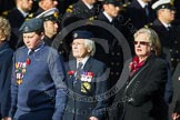Remembrance Sunday at the Cenotaph in London 2014: Group C16 - Women's Auxiliary Air Force. Press stand opposite the Foreign Office building, Whitehall, London SW1, London, Greater London, United Kingdom, on 09 November 2014 at 11:40, image #151