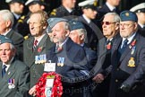 Remembrance Sunday at the Cenotaph in London 2014: Group C18 - Coastal Command & Maritime Air Association. Press stand opposite the Foreign Office building, Whitehall, London SW1, London, Greater London, United Kingdom, on 09 November 2014 at 11:40, image #157