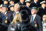 Remembrance Sunday at the Cenotaph in London 2014: Group C18 - Coastal Command & Maritime Air Association. Press stand opposite the Foreign Office building, Whitehall, London SW1, London, Greater London, United Kingdom, on 09 November 2014 at 11:40, image #160