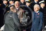 Remembrance Sunday at the Cenotaph in London 2014: Group C18 - Coastal Command & Maritime Air Association. Press stand opposite the Foreign Office building, Whitehall, London SW1, London, Greater London, United Kingdom, on 09 November 2014 at 11:40, image #161