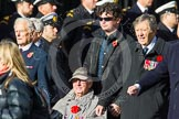 Remembrance Sunday at the Cenotaph in London 2014: Group C19 - Royal Air Forces Ex-Prisoner's of War Association. Press stand opposite the Foreign Office building, Whitehall, London SW1, London, Greater London, United Kingdom, on 09 November 2014 at 11:40, image #162
