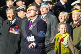 Remembrance Sunday at the Cenotaph in London 2014: Group C19 - Royal Air Forces Ex-Prisoner's of War Association. Press stand opposite the Foreign Office building, Whitehall, London SW1, London, Greater London, United Kingdom, on 09 November 2014 at 11:40, image #164
