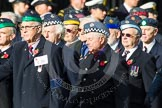 Remembrance Sunday at the Cenotaph in London 2014: Group C20 - Federation of Royal Air Force Apprentice & Boy Entrant Associations. Press stand opposite the Foreign Office building, Whitehall, London SW1, London, Greater London, United Kingdom, on 09 November 2014 at 11:40, image #168