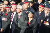Remembrance Sunday at the Cenotaph in London 2014: Group C20 - Federation of Royal Air Force Apprentice & Boy Entrant Associations. Press stand opposite the Foreign Office building, Whitehall, London SW1, London, Greater London, United Kingdom, on 09 November 2014 at 11:40, image #170