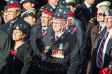 Remembrance Sunday at the Cenotaph in London 2014: Group C20 - Federation of Royal Air Force Apprentice & Boy Entrant Associations. Press stand opposite the Foreign Office building, Whitehall, London SW1, London, Greater London, United Kingdom, on 09 November 2014 at 11:40, image #171