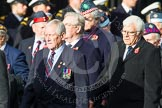 Remembrance Sunday at the Cenotaph in London 2014: Group C20 - Federation of Royal Air Force Apprentice & Boy Entrant Associations. Press stand opposite the Foreign Office building, Whitehall, London SW1, London, Greater London, United Kingdom, on 09 November 2014 at 11:40, image #174