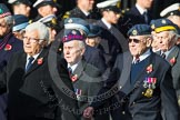 Remembrance Sunday at the Cenotaph in London 2014: Group C20 - Federation of Royal Air Force Apprentice & Boy Entrant Associations. Press stand opposite the Foreign Office building, Whitehall, London SW1, London, Greater London, United Kingdom, on 09 November 2014 at 11:40, image #175