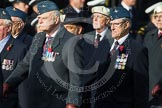 Remembrance Sunday at the Cenotaph in London 2014: Group C21 - Royal Air Force Air Loadmasters Association. Press stand opposite the Foreign Office building, Whitehall, London SW1, London, Greater London, United Kingdom, on 09 November 2014 at 11:40, image #181