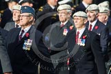 Remembrance Sunday at the Cenotaph in London 2014: Group C22 - Royal Air Force Police Association. Press stand opposite the Foreign Office building, Whitehall, London SW1, London, Greater London, United Kingdom, on 09 November 2014 at 11:40, image #182