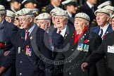 Remembrance Sunday at the Cenotaph in London 2014: Group C22 - Royal Air Force Police Association. Press stand opposite the Foreign Office building, Whitehall, London SW1, London, Greater London, United Kingdom, on 09 November 2014 at 11:41, image #185