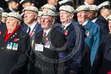 Remembrance Sunday at the Cenotaph in London 2014: Group C22 - Royal Air Force Police Association. Press stand opposite the Foreign Office building, Whitehall, London SW1, London, Greater London, United Kingdom, on 09 November 2014 at 11:41, image #186