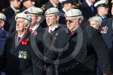 Remembrance Sunday at the Cenotaph in London 2014: Group C22 - Royal Air Force Police Association. Press stand opposite the Foreign Office building, Whitehall, London SW1, London, Greater London, United Kingdom, on 09 November 2014 at 11:41, image #189