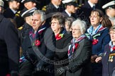 Remembrance Sunday at the Cenotaph in London 2014: Group C23 - Princess Mary's Royal Air Force Nursing Service Association. Press stand opposite the Foreign Office building, Whitehall, London SW1, London, Greater London, United Kingdom, on 09 November 2014 at 11:41, image #191