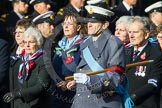 Remembrance Sunday at the Cenotaph in London 2014: Group C23 - Princess Mary's Royal Air Force Nursing Service Association. Press stand opposite the Foreign Office building, Whitehall, London SW1, London, Greater London, United Kingdom, on 09 November 2014 at 11:41, image #192