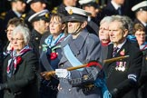 Remembrance Sunday at the Cenotaph in London 2014: Group C23 - Princess Mary's Royal Air Force Nursing Service Association. Press stand opposite the Foreign Office building, Whitehall, London SW1, London, Greater London, United Kingdom, on 09 November 2014 at 11:41, image #193