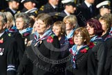 Remembrance Sunday at the Cenotaph in London 2014: Group C23 - Princess Mary's Royal Air Force Nursing Service Association. Press stand opposite the Foreign Office building, Whitehall, London SW1, London, Greater London, United Kingdom, on 09 November 2014 at 11:41, image #195