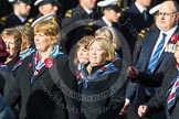 Remembrance Sunday at the Cenotaph in London 2014: Group C23 - Princess Mary's Royal Air Force Nursing Service Association. Press stand opposite the Foreign Office building, Whitehall, London SW1, London, Greater London, United Kingdom, on 09 November 2014 at 11:41, image #197