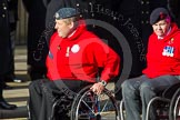 Remembrance Sunday at the Cenotaph in London 2014: Group C25 - British Ex-Services Wheelchair Sports Association. Press stand opposite the Foreign Office building, Whitehall, London SW1, London, Greater London, United Kingdom, on 09 November 2014 at 11:42, image #226