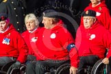 Remembrance Sunday at the Cenotaph in London 2014: Group C25 - British Ex-Services Wheelchair Sports Association. Press stand opposite the Foreign Office building, Whitehall, London SW1, London, Greater London, United Kingdom, on 09 November 2014 at 11:42, image #228