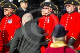 Remembrance Sunday at the Cenotaph in London 2014: Group C26 - Royal Hospital Chelsea. Press stand opposite the Foreign Office building, Whitehall, London SW1, London, Greater London, United Kingdom, on 09 November 2014 at 11:42, image #234