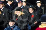 Remembrance Sunday at the Cenotaph in London 2014: Group C27 - Queen Alexandra's Hospital Home for Disabled Ex- Servicemen & Women. Press stand opposite the Foreign Office building, Whitehall, London SW1, London, Greater London, United Kingdom, on 09 November 2014 at 11:42, image #251