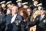 Remembrance Sunday at the Cenotaph in London 2014: Group C29 - Combat Stress. Press stand opposite the Foreign Office building, Whitehall, London SW1, London, Greater London, United Kingdom, on 09 November 2014 at 11:42, image #266